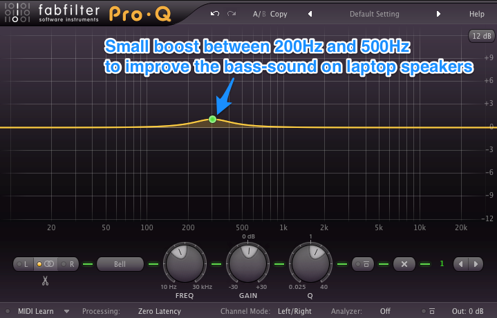 Mixing Drums - Mixing Bass - EQ Boost