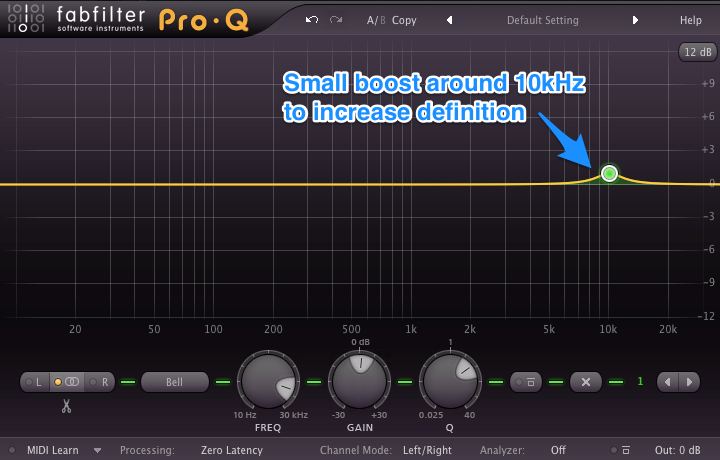 Mixing Drums - Mixing Hi-Hats - EQ Boost