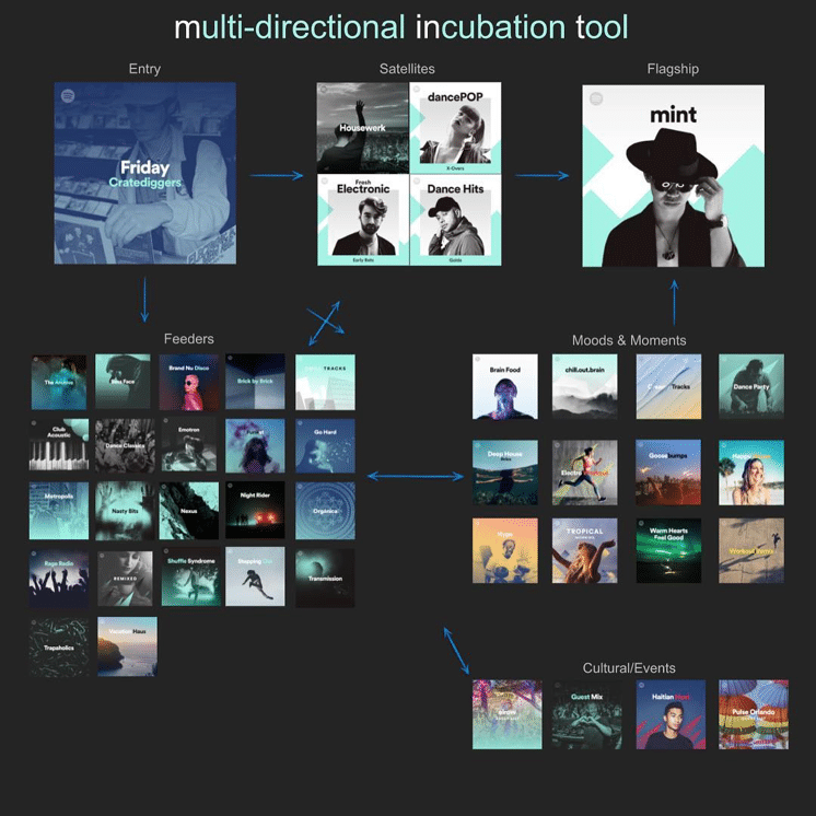 Spotify Marketing Strategy - Spotify Multidirectional Incubation Tool