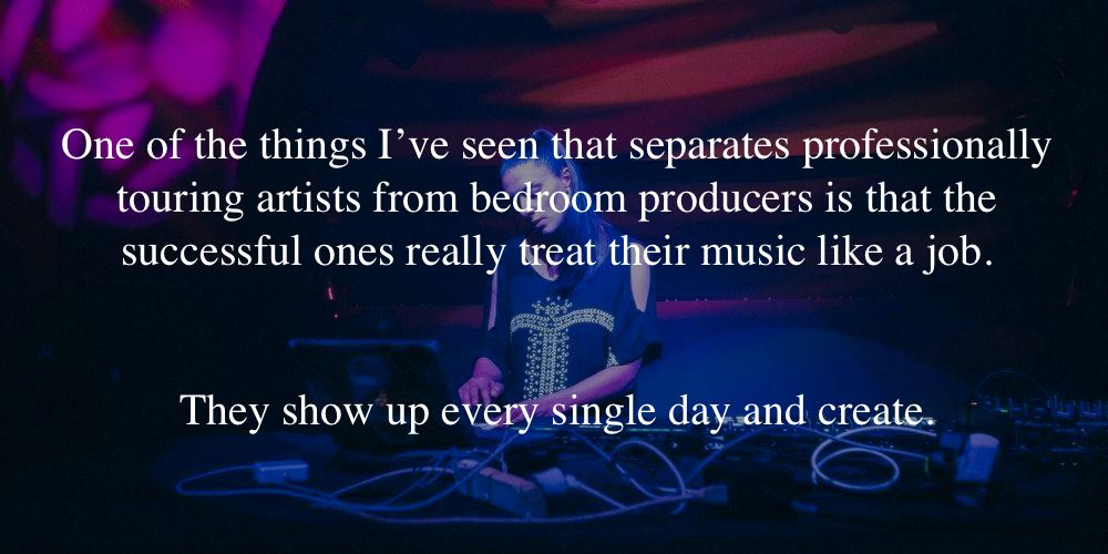 Jesse Brede Music Industry Advice Quote